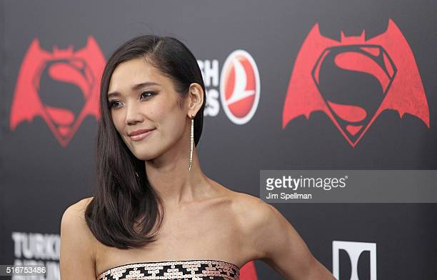 Actress Tao Okamoto attends the 'Batman V Superman Dawn Of Justice' New York premiere at Radio City Music Hall on March 20 2016 in New York City