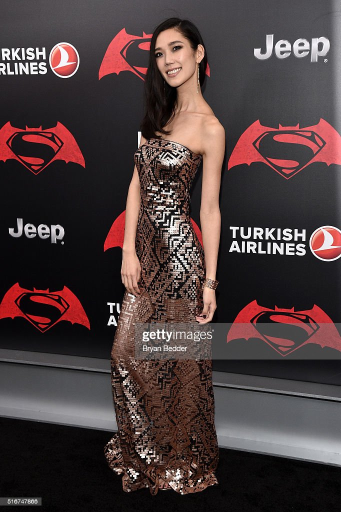 Actress Tao Okamoto attends the launch of Bai Superteas at the Batman v Superman premiere on March 20, 2016 in New York City.