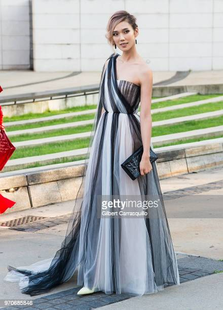 Actress Tao Okamoto is seen arriving to the 2018 CFDA Fashion Awards at Brooklyn Museum on June 4 2018 in New York City