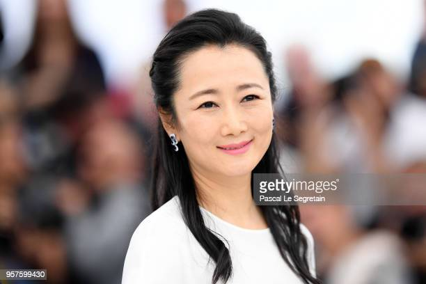Actress Tao Zha attends the photocall for 'Ash Is The Purest White ' during the 71st annual Cannes Film Festival at Palais des Festivals on May 12...