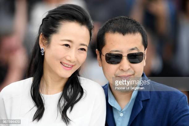 Actress Tao Zhao and director Zhangke Jia attend the photocall for 'Ash Is The Purest White ' during the 71st annual Cannes Film Festival at Palais...