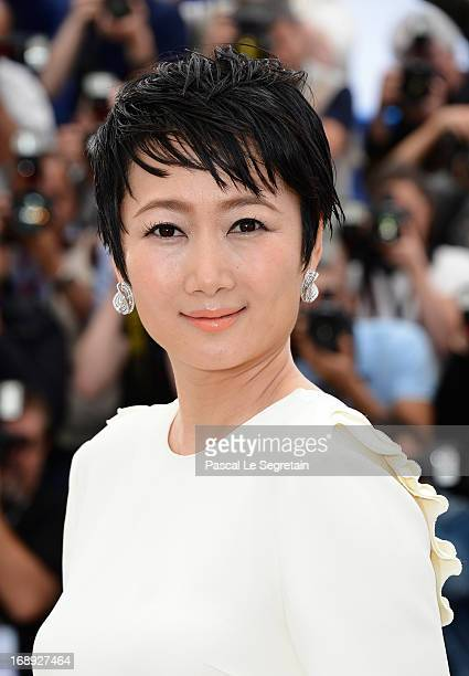 Actress Tao Zhao attends 'Tian Zhu Ding' photocall during the 66th Annual Cannes Film Festival at the Palais des Festivals on May 17 2013 in Cannes...