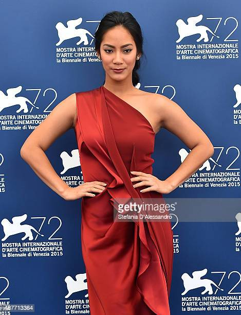 Actress Tara Basro attends a photocall for 'A Copy Of My Mind' during the 72nd Venice Film Festival at Palazzo del Casino on September 11 2015 in...