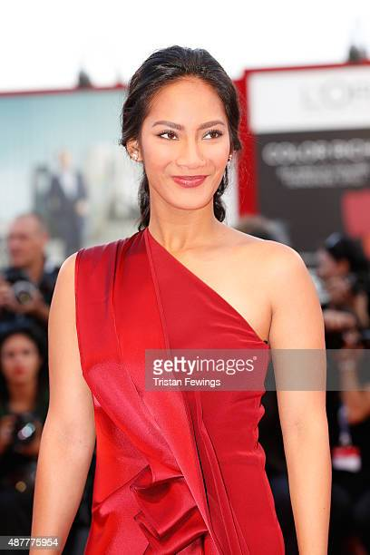 Actress Tara Basro attends a premiere for 'A Copy Of My Mind' during the 72nd Venice Film Festival at Sala Darsena on September 11 2015 in Venice...