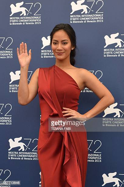 Actress Tara Basro poses during the photocall of the movie A Copy of my Mind presented in the Orizzonti selection at the 72nd Venice International...