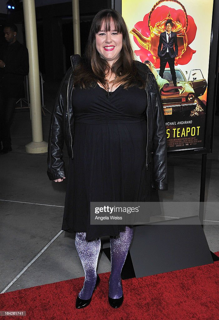Actress Tara Copeland arrives to the LA screening of Magnolia Pictures' 'The Brass Teapot' at ArcLight Hollywood on March 21, 2013 in Hollywood, California.