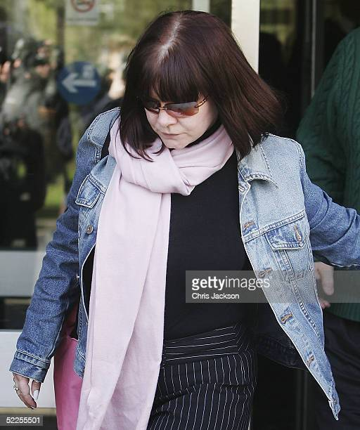 Actress Tara Cressida Frances Williams leaves court after sentencing for a drink drive charge at Redhill Magistrates Court on February 28 2005 in...