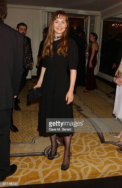 Actress Tara Fitzgerald attends the PreReception ahead of the annual Evening Standard Film Awards 2005 at The Savoy on February 6 2005 in London