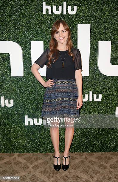 Actress Tara Lynne Barr attends the Hulu 2015 Summer TCA Presentation at The Beverly Hilton Hotel on August 9 2015 in Beverly Hills California