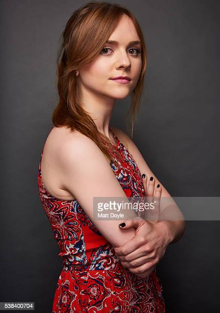 Actress Tara Lynne Barr is photographed at the Hulu UpFront for TV Guide Magazine on May 4 2016 in New York City