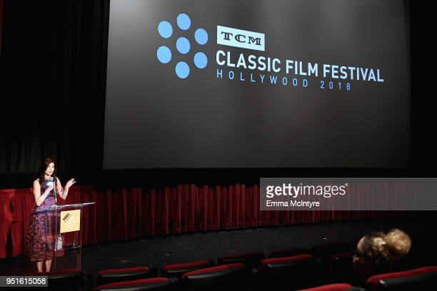Actress Tara McNamara attends the screening of Murder on the Orient Express during Day 1 of the 2018 TCM Classic Film Festival on April 26 2018 in...