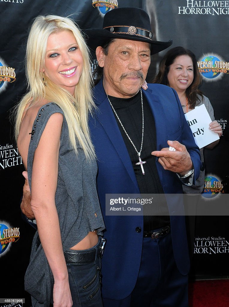 Actress Tara Reid and actor Danny Trejo arrive for Universal Studios Hollywood 'Halloween Horror Nights' Kick Off With The Annual 'Eyegore Awards' held at Universal Studios Hollywood on September 19, 2014 in Universal City, California.