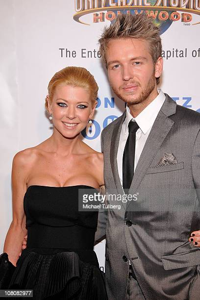 Actress Tara Reid and boyfriend Michael Lillelund arrive at Hollywood publicist Charmaine Blake's 1st Annual Golden Globes Viewing Party To Help...