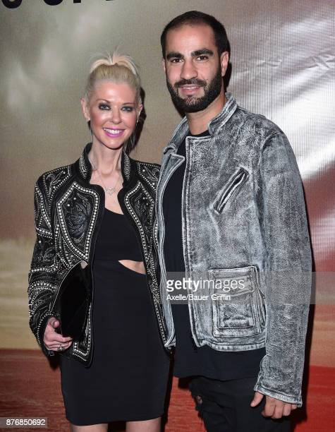 Actress Tara Reid and guest arrive at the premiere of 'The Tribes of Palos Verdes' at The Theatre at Ace Hotel on November 17 2017 in Los Angeles...