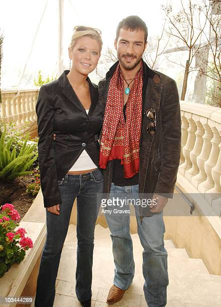 Actress Tara Reid and singer Marco Gandolfi Vanini attend the Montblanc Celebration Brunch for Inheriting Beauty and the Montblanc Jewelry Collection...