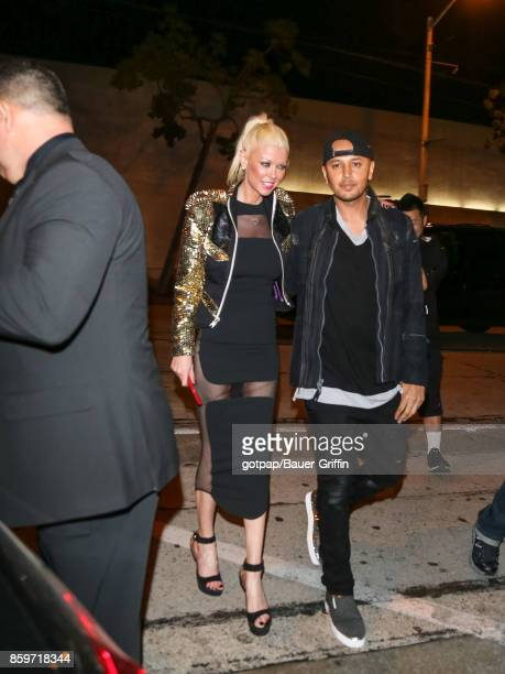 Actress Tara Reid and Ted Dhanik are seen on October 09 2017 in Los Angeles California