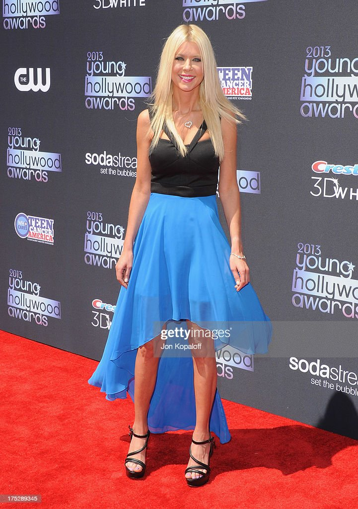 Actress Tara Reid arrives at the 15th Annual Young Hollywood Awards at The Broad Stage on August 1, 2013 in Santa Monica, California.