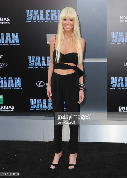 Actress Tara Reid arrives at the Los Angeles Premiere 'Valerian And The City Of A Thousand Planets' at TCL Chinese Theatre on July 17 2017 in...
