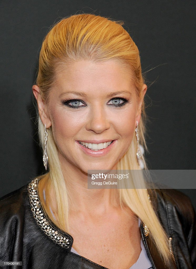 Actress Tara Reid arrives at the Myspace event at El Rey Theatre on June 12, 2013 in Los Angeles, California.