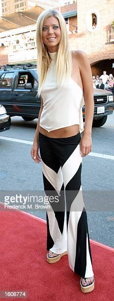 Actress Tara Reid arrives at the premiere of the film 'American Pie 2' August 6 2001 in Los Angeles CA