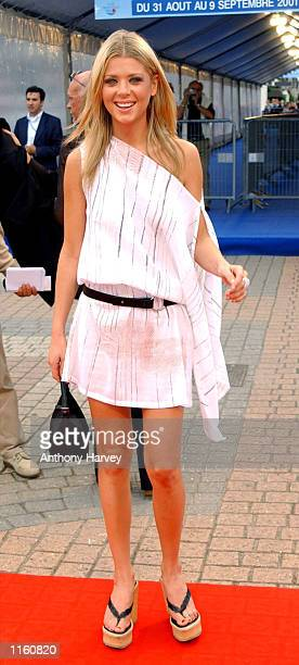 Actress Tara Reid arrives for the Premiere of ''American Pie 2'' September 2 2001 at the Deauville Film Festival for American Cinema in Deauville...