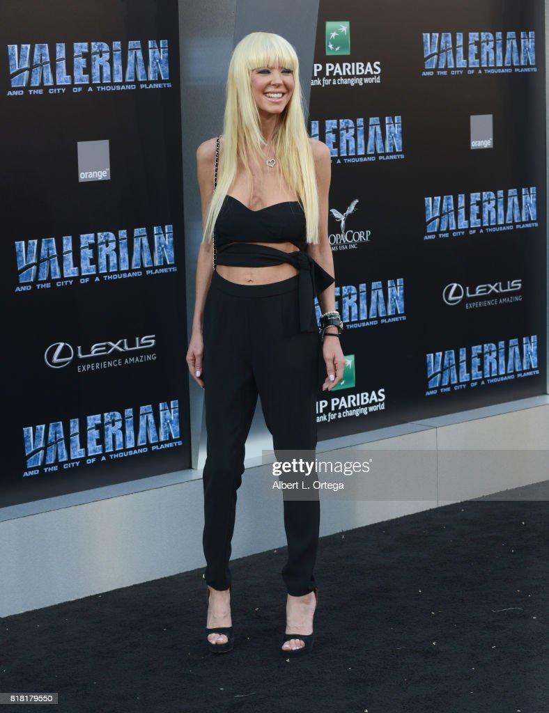 Actress Tara Reid arrives for the Premiere Of EuropaCorp And STX Entertainment's 'Valerian And The City Of A Thousand Planets' held at TCL Chinese Theatre on July 17, 2017 in Hollywood, California.