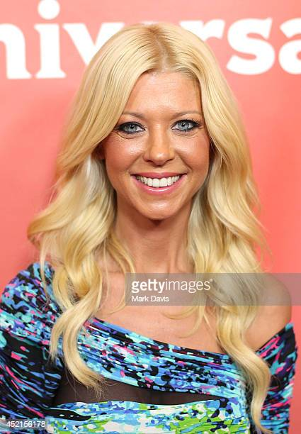 Actress Tara Reid attends NBCUniversal's 2014 Summer TCA Tour day 2 at The Beverly Hilton Hotel on July 14 2014 in Beverly Hills California