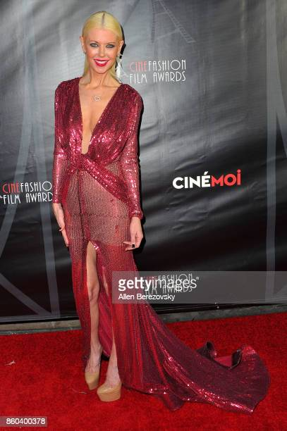 Actress Tara Reid attends the 4th Annual CineFashion Film Awards at El Capitan Theatre on October 8 2017 in Los Angeles California