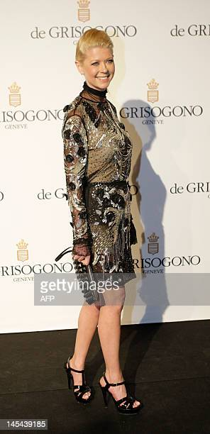 Actress Tara Reid attends the Grisogono Party at the Hotel Eden Roc in Antibes during the 65th Cannes film festival on May 23, 2012. AFP PHOTO / JEAN...