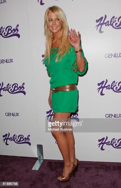 Actress Tara Reid attends the Hale Bob Summer of Love Party at Falcon on July 9 2008 in Beverly Hills California
