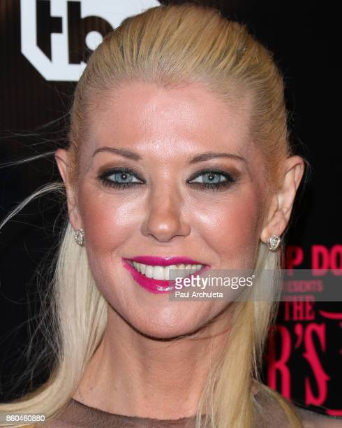 Actress Tara Reid attends the premiere for TBS's Drop The Mic and The Joker's Wild at The Highlight Room on October 11 2017 in Los Angeles California