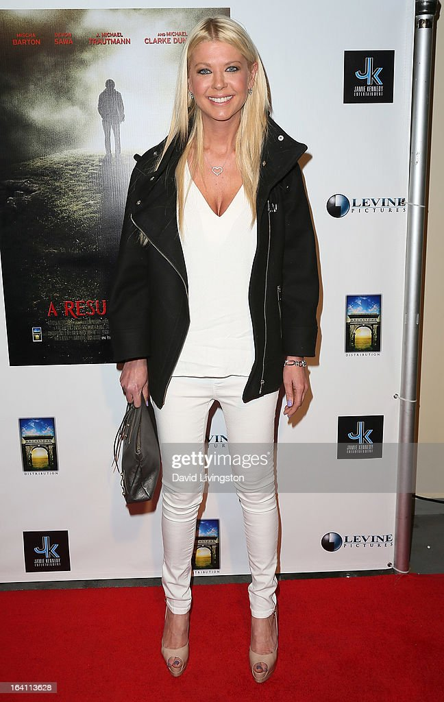 Actress Tara Reid attends the premiere of 'A Resurrection' at ArcLight Sherman Oaks on March 19, 2013 in Sherman Oaks, California.