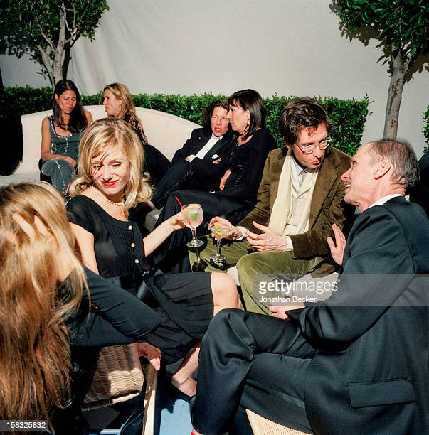 Actress Tara Subkoff director Wes Anderson John Waters writer Fran Lebowitz and actress Anjelica Huston are photographed for Vanity Fair Magazine on...