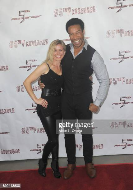 Actress Tarah Paige and Rico E Anderson arrive for the Cast And Crew Screening Of 5th Passenger held at TCL Chinese 6 Theatres on December 13 2017 in...