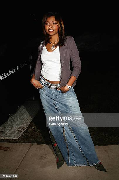 Actress Taraji Henson attends the premiere of 'Lackawanna Blues' at the Eccles Center for the Performing Arts during the 2005 Sundance Film Festival...