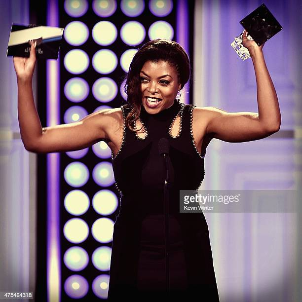 Actress Taraji P Henson accepts the Best Actress in a Drama Series award for Empire onstage at the 5th Annual Critics' Choice Television Awards at...
