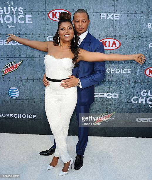 Actress Taraji P Henson and actor Terrence Howard attend Spike TV's 'Guys Choice 2015' at Sony Pictures Studios on June 6 2015 in Culver City...