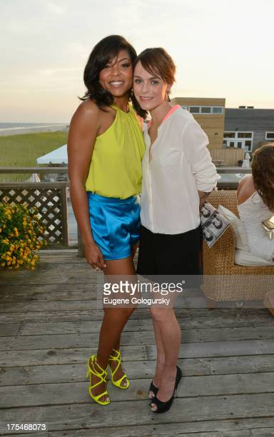 "Actress Taraji P. Henson and actress Taryn Manning attend Women's Health Hamptons ""Party Under the Stars"" for RUN10 FEED10 at Bridgehampton Tennis..."