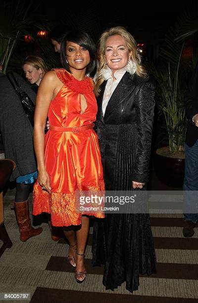 Actress Taraji P Henson and designer Pamella Roland attend the after party for The Curious Case of Benjamin Button screening hosted by The Cinema...
