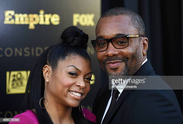 Actress Taraji P Henson and director Lee Daniels arrive at Fox's Empire ATAS Academy event at The Theatre at The Ace Hotel on March 12 2015 in Los...