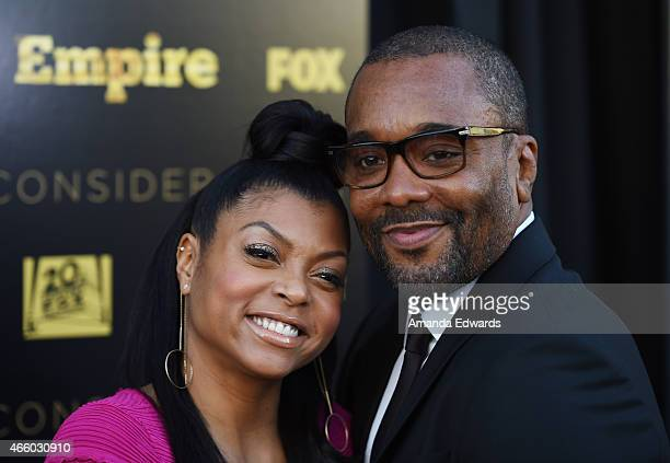 Actress Taraji P Henson and director Lee Daniels arrive at Fox's 'Empire' ATAS Academy event at The Theatre at The Ace Hotel on March 12 2015 in Los...