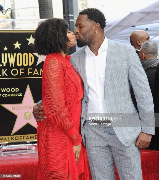 Actress Taraji P. Henson and fiance/former NFL player Kelvin Hayden attend the ceremony honoring Taraji P. Henson with a star on The Hollywood Walk...