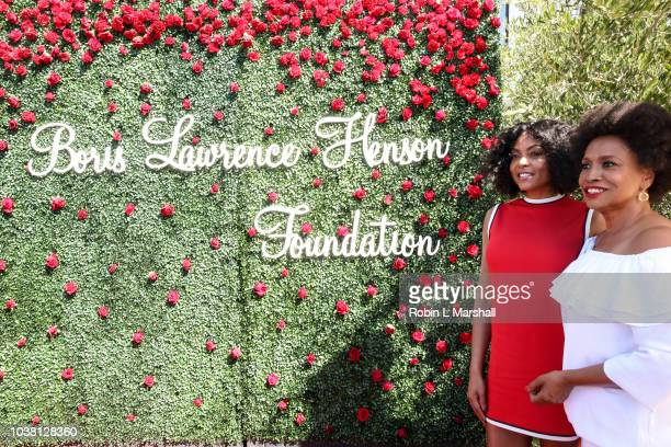Actress Taraji P Henson and Jenifer Lewis attend Taraji's Boutique of Hope on September 22 2018 in Beverly Hills California