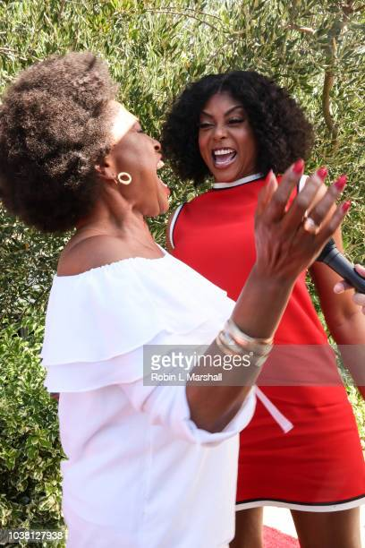 Actress Taraji P Henson and Jenifer Lewis attends Taraji's Boutique of Hope on September 22 2018 in Beverly Hills California