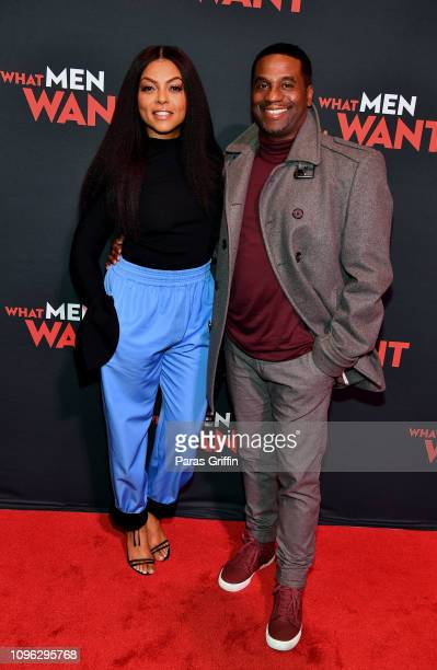 Actress Taraji P Henson and producer James Lopez attend a special screening of 'What Men Want' at Regal Atlantic Station on January 18 2019 in...