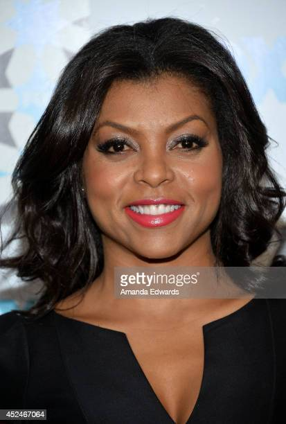 Actress Taraji P Henson arrives at the 2014 Television Critics Association Summer Press Tour FOX AllStar Party at Soho House on July 20 2014 in West...