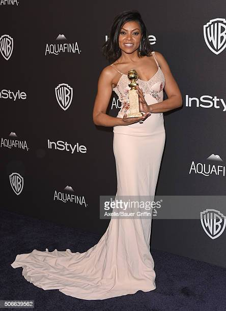 Actress Taraji P. Henson arrives at the 2016 InStyle And Warner Bros. 73rd Annual Golden Globe Awards Post-Party at The Beverly Hilton Hotel on...