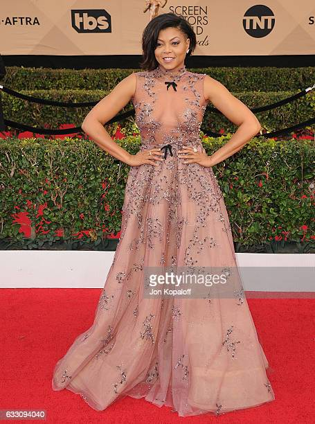 Actress Taraji P Henson arrives at the 23rd Annual Screen Actors Guild Awards at The Shrine Expo Hall on January 29 2017 in Los Angeles California