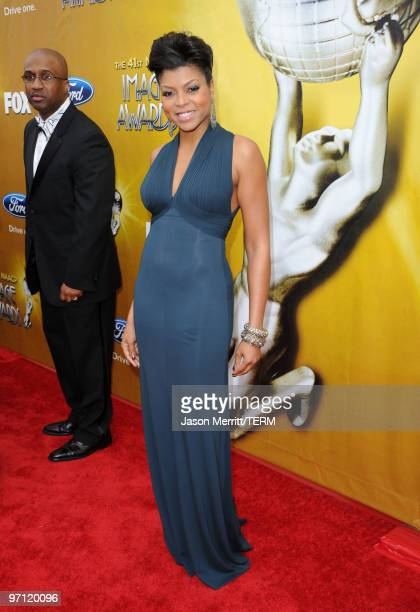 Actress Taraji P Henson arrives at the 41st NAACP Image awards held at The Shrine Auditorium on February 26 2010 in Los Angeles California