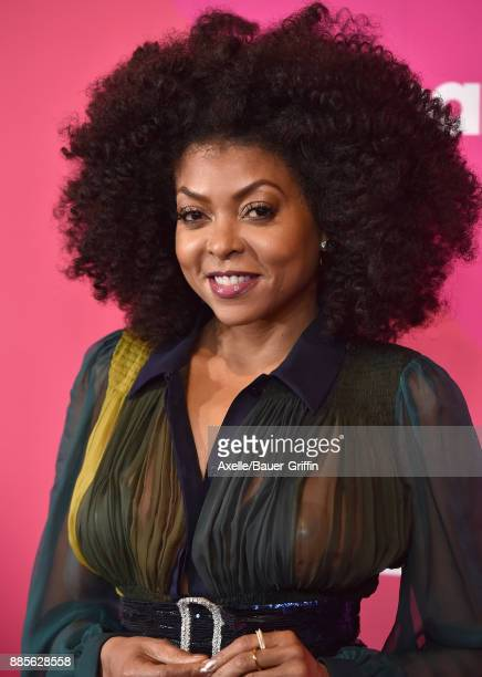Actress Taraji P Henson arrives at the Billboard Women In Music 2017 at The Ray Dolby Ballroom at Hollywood Highland Center on November 30 2017 in...